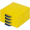 "ECR4KIDS 4-pc Square Carry Me Cushion - 15"" x 15"" - Vinyl, Foam - Square - Comfortable, Durable, Lightweight, Handle - 4 / Set"