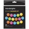 Astrobrights Round Banner Kit - 25 / Pack - Assorted