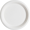"Eco-Products Sugarcane Plates - 20 / Pack - 7"" Diameter Plate - Sugarcane Fiber - Microwave Safe - White - 1000 Piece(s) / Carton"