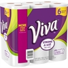 Viva Choose-A-Sheet Paper Towels - 1 Ply - 66 Sheets/Roll - White - Soft, Durable, Perforated, Smooth, Textured, Strong - For Kitchen - 6 / Pack