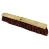 "Genuine Joe 24"" Push Broomhead - 1 Each - Brown - Palmyra"