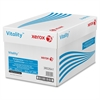 "Xerox Vitality Multipurpose Printer Paper - Letter - 8.50"" x 11"" - 20 lb Basis Weight - 3 x Hole Punched - 92 Brightness - 5000 / Carton - White"
