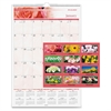 "At-A-Glance Floral Monthly Wall Calendar - Julian - Monthly - 1 Year - January 2017 till December 2017 - 1 Month Single Page Layout - 15.50"" x 22.75"" - Wire Bound - Wall Mountable - Black"
