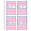 Phone Message Book - 50 Sheet(s) - Spiral Bound - 2 Part - Carbonless Copy - 1 Each