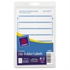 "Avery Filing Label - Permanent Adhesive - 0.69"" Width x 3.44"" Length - 7 / Sheet - Rectangle - Laser, Inkjet - Light Blue - 252 / Pack"