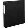 "Avery EZD Ring Durable Binder w/Label Holders - 1 1/2"" Binder Capacity - Letter - 8 1/2"" x 11"" Sheet Size - 400 Sheet Capacity - 3 x D-Ring Fastener(s) - 4 Internal Pocket(s) - Poly - Black - Recycled"