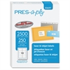 "PRES-a-ply Pres-a-ply Laser/Inkjet Shipping Labels - Permanent Adhesive - 2"" Width x 4"" Length - Rectangle - Laser - White - 2500 / Box"