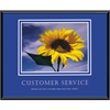 "Advantus Motivational Customer Service Poster - 30"" Width x 24"" Height - Black Frame"