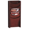 "Buddy 5-Pocket Literature Wall Display Racks - 5 Pocket(s) - 24"" Height x 11"" Width x 3.8"" Depth - Wall Mountable - Mahogany - Wood - 1Each"