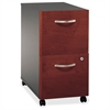 "Series C 2 Drawer Mobile Pedestal - Assembled - 15.7"" x 20.3"" x 28.1"" - 2 x File Drawer(s) - Material: Pressboard, Polyvinyl Chloride (PVC), Engineered Wood, Wood - Finish: Dar"