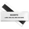 "HOL-DEX Magnetic Shelf/Bin Label Holders - 2"" x 6"" - Plastic - 10 / Box - Clear"""