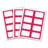 "Printer Name Badge - 3.37"" Width x 2.30"" Length - 200 / Box - Rectangle - 8/Sheet - Laser, Inkjet - Red"""