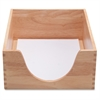 "Carver Double Deep Wood Desk Trays - 1 Tier(s) - 5"" Depth - Desktop - Oak - Wood - 1Each"