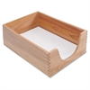 "Carver Double Deep Wood Desk Trays - 5"" Depth - Desktop - Oak - Wood - 1Each"