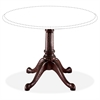 "DMi Queen Anne Conference Table Base - 28.50"" Height - Assembly Required - Laminated, Mahogany - Hardwood"