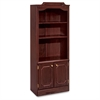 "Governor's Bookcase With Doors - 30"" x 14"" x 74"" - Drawer(s)2 Door(s) - 3 Shelve(s) - Material: Wood - Finish: Laminate, Mahogany"