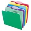 "File Folder With Infopocket - Letter - 8 1/2"" x 11"" Sheet Size - 1/3 Tab Cut - Assorted Position Tab Location - Assorted - 30 / Pack"