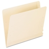 "Laminated Spine End-Tab File Folder - Letter - 8 1/2"" x 11"" Sheet Size - 14 pt. Folder Thickness - Poly - Manila - Recycled - 50 / Box"