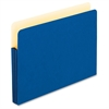 "Expanding File Pocket - 3 1/2"" Folder Capacity - Letter - 8 1/2"" x 11"" Sheet Size - 3 1/2"" Expansion - Manila - Blue - 1 Each"