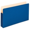 "Pendaflex Colored Expanding File Pockets - 3 1/2"" Folder Capacity - Legal - 8 1/2"" x 14"" Sheet Size - 3 1/2"" Expansion - Manila - Blue - 1 Each"