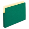 "Pendaflex Colored Expanding File Pockets - 3 1/2"" Folder Capacity - Legal - 8 1/2"" x 14"" Sheet Size - 3 1/2"" Expansion - Manila - Green - 1 Each"