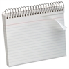 "Spiral-Bound 5"" x 8"" Index Cards - Printed - Spiral - Ruled - 5"" x 8"" - White Paper - Recycled - 1Each"