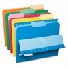 "Interior File Folder - Letter - 8 1/2"" x 11"" Sheet Size - 1/3 Tab Cut - Assorted Position Tab Location - Assorted - 100 / Box"