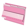 "Pendaflex Pink Interior Folders - Letter - 8 1/2"" x 11"" Sheet Size - 1/3 Tab Cut - Pink - 100 / Box"