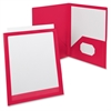 "Oxford Viewfolio Presentation Folders - Letter - 8 1/2"" x 11"", 9 1/2"" x 11 5/8"" Sheet Size - 2 Pocket(s) - Polypropylene - Red - 1 Each"