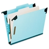 "Hanging Classification Folder - Legal - 8 1/2"" x 14"" Sheet Size - 2"" Expansion - 2 3/4"" Fastener Capacity for Folder - 1 Divider(s) - 25 pt. Folder Thickness - Pressboard - Blue - 1 Each"