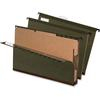 "Pendaflex SureHook Hanging Folder with Dividers - Legal - 8.50"" x 14"" Sheet Size - 2"" Expansion - 2"" Fastener Capacity for Folder - 2 Divider(s) - Pressboard - Green - Recycled - 10 / Box"