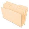 "Essentials File Folder - Legal - 8 1/2"" x 14"" Sheet Size - 3/4"" Expansion - 1/3 Tab Cut - Assorted Position Tab Location - 11 pt. Folder Thickness - Manila - 100 / Box"
