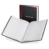 "Boorum & Pease Boorum Visitor's Register Book - 150 Sheet(s) - Thread Sewn - 14.12"" x 10.87"" Sheet Size - White Sheet(s) - Black, Red Cover - 1 Each"