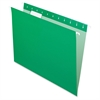 "Essentials Color Hanging Folders - Letter - 8 1/2"" x 11"" Sheet Size - 1/5 Tab Cut - Green - 25 / Box"
