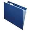 "Essentials Color Hanging Folders - Letter - 8 1/2"" x 11"" Sheet Size - 1/5 Tab Cut - Navy Blue - 25 / Box"