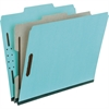 "Pendaflex Pressboard Partition Folders - Letter - 8 1/2"" x 11"" Sheet Size - 1"" Expansion - 2 Fastener(s) - 1 Divider(s) - 25 pt. Folder Thickness - Pressboard - Blue, Gray - Recycled - 10 / Box"