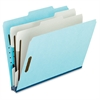 "Pendaflex Pressboard Partition Folders - Legal - 8 1/2"" x 14"" Sheet Size - 1"" Expansion - 2 Fastener(s) - 2 Divider(s) - 25 pt. Folder Thickness - Pressboard - Blue, Gray - 10 / Box"