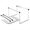 "Pendaflex Actionframe Drawer File Frames - 14"" to 18"" Letter Drawer Size Supported - Steel - 2/Box - Stainless Steel"