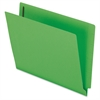 "Colored End Tab Folder with Fastener - Letter - 8 1/2"" x 11"" Sheet Size - 2 Fastener(s) - 2"" Fastener Capacity for Folder - 11 pt. Folder Thickness - Green - 50 / Box"