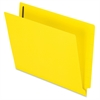 "Pendaflex Color End Tab Fastener Folders - Letter - 8 1/2"" x 11"" Sheet Size - 3/4"" Expansion - 2 Fastener(s) - 2"" Fastener Capacity for Folder - 11 pt. Folder Thickness - Yellow - 50 / Box"