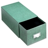 "Globe-Weis Agate Index Card Storage Drawers - Internal Dimensions: 8"" Width x 5"" HeightExternal Dimensions: 14.5"" Depth - Heavy Duty - Fiberboard - Green - For Card - 1 Each"