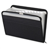 "Pendaflex Fabric Zip File - 10"" x 14"" Sheet Size - 13 Internal Pocket(s) - Fabric - Black - 1 Each"