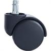 "Futura Euro Design B Stem H Wheel Caster - 2.18"" Diameter - 100 lb per Caster Load Capacity - Black"
