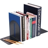 "MMF Fashion Steel Bookend - 7"" Height x 6"" Width x 5"" Depth - Desktop - Recycled - Granite - Steel - 1 / Pair"