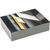 "MMF Stationery Holders for Desk Drawers - 3 Compartment(s) - 3.8"" Height x 11.4"" Width x 15"" Depth - Drawer - Recycled - Black - Steel - 1Each"