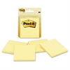 "Notes, 3 in x 3 in, Canary Yellow - 200 - 3"" x 3"" - Square - 50 Sheets per Pad - Unruled - Canary Yellow - Paper - Self-adhesive, Repositionable - 4 Pad"