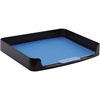 "OIC 2200 Series Side Loading Trays - 10.3"" Height x 15.9"" Width x 2"" Depth - Desktop - Black - Plastic - 1Each"