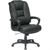 "Office Star EX5162 Deluxe High Back Executive Leather Chair - Leather Black Seat - Leather Back - 5-star Base - 21.50"" Seat Width x 22"" Seat Depth - 26.5"" Width x 31.5"" Depth x 46.3"" Height"