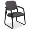 "Office Star V4410 Deluxe Sled Base Arm Chair - Onyx Seat - Black Frame - Sled Base - 19"" Seat Width x 18"" Seat Depth - 23"" Width x 25"" Depth x 32.5"" Height"