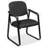 "Office Star V4410 Deluxe Sled Base Arm Chair - Black Seat - Black Frame - Sled Base - 19"" Seat Width x 18"" Seat Depth - 23"" Width x 25"" Depth x 32.5"" Height"